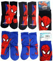 Marvel SPIDER-MAN Licensed Men's CREW SOCKS (Shoe size: 11-4) 2 Pairs - NWT