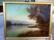 Listed Artist Arthur E. Pope Early Charles River Scene Oil On Canvas Signed1904
