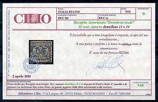ITALIA 1928 - RECAPITO AUTORIZZATO 10c. DENTELLATO 11 x 14 USATO (CERT. CILIO)