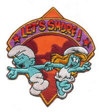 Let's Smurf Dancing Cartoon Embroidery Iron on Patches
