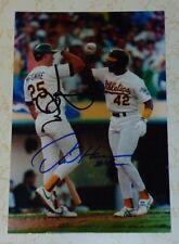 Mark McGwire auto photo A's Cardinals Big Mac ROY MVP signed autograph