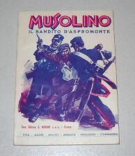Giovanni De Nava MUSOLINO Il bandito d'Aspromonte - Nerbini 1981 OTTIMO