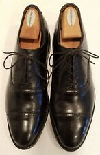 "ALLEN EDMONDS ""HALE"" Cap-Toe Derby Black Leather Men's Dress Shoes Size 9 D"