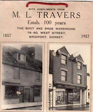 Bridport M L Travers  Boot Shoe Warehouse 78-80 West Street RP photo Shop Front