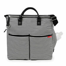 NEW SKIP HOP BLACK & WHITE STRIPED DUO SIGNATURE BABY MATERNITY CHANGING BAG