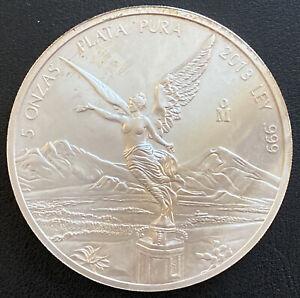 2013 Mexican Silver Libertad 5 oz Silver Coin Free Shipping