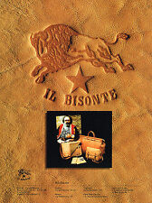 PUBLICITE ADVERTISING 025  1986  IL BISONTE maroquinerie porte-documents sacs va