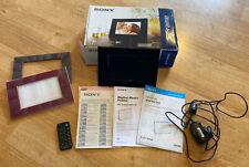 "SONY S-Frame Black 7"" Digital Photo Frame DPF-E72N - with box, remote and frames"
