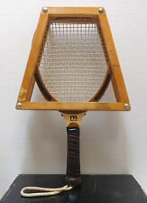 MARCRAFT Raquetball Wooden Raquet ALLASH AND WALNUT WITH PROTECTIVE CASE VINTAGE