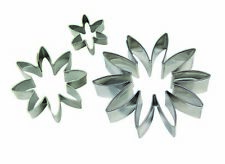 PME Cup Cake Sugarcraft Icing Stainless Steel Daisy Cutting Cutter Set of 3