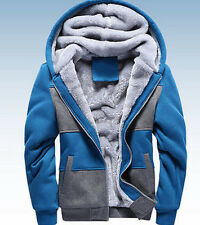 Mens Warm Hoodie Thicken Fur Lined Boy Coats Jackets Parka assorted colors hot