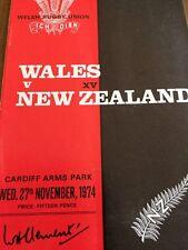 Wales V New Zealand 27/12/1964
