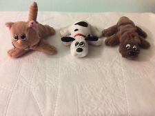 "Vintage Tonka Pound Puppies Purries Cat 7"" Orange Tiger & 2 Puppies"