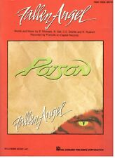 "POISON ""FALLEN ANGEL"" SHEET MUSIC-PIANO/VOCAL/GUITAR-1988-VERY RARE-NEW ON SALE!"