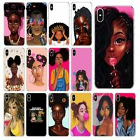 African Girl Phone Case Beauty Afro Woman Cover African Silicone Case For iPhone