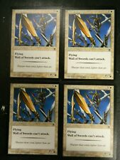 Vintage MTG Portal Wall Of Swords (x4) White Uncommon Cards Excellent