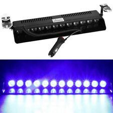 12 LED Emergency Warning Flash Strobe Light Beacon Visor Lamps Blue/Blue
