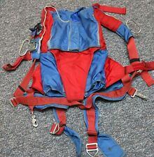 Sierra piggyback skydiving parachute container (old school) - adjustable harness