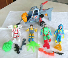 The Real Ghostbusters Ecto-2 Helicopter Action Figures & Ghosts