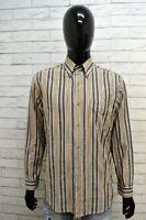 Camicia a Righe Uomo MARLBORO CLASSIC Camicetta Maglia Taglia M Shirt Man Cotone