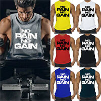 Men Tank Top  Muscle Fitness Vest Tee Sleeveless GYM Sport Workout Bodybuilding