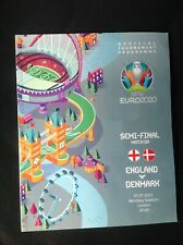 More details for euro 2020 england v denmark semi-final programme 7th july 2021