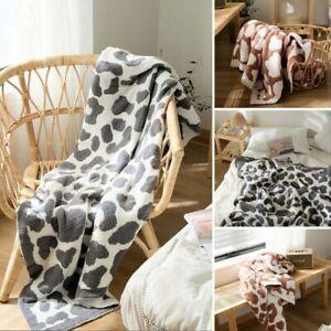 Animal Print Throw Fleece Blanket Soft Sofa Bed Office Blankets Cover 130*160cm