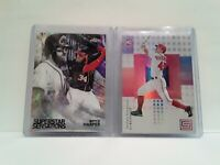 Uncirculated Nationals Bryce Harper + Andrew Stevenson ROOKIE Topps and Panini