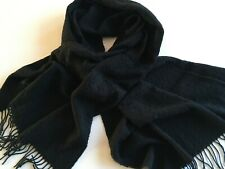 Ladies Cashmere Stole Black Made in Scotland