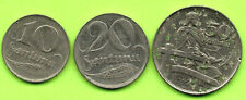 LATVIA LETTLAND LOT OF 3 COINS 10 20 AND 50 San. 1922s 772