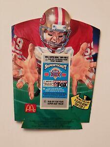 1994 McDonalds NFL 49er's French Fry Holder Super Bowl Ticket Scratch Off