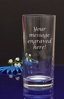 Personalised Your text Engraved Hi Ball Tumbler Glass Birthday Wedding Christmas