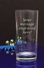 Personalised Your text Engraved Hi Ball Tumbler Glass Birthday Wedding Christmas