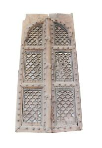 Antiques Door / Gate Royal Wood Architectural Garden Handcrafted Indian Home Dec