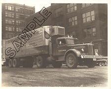 MACK L MODEL & REEFER, CHICAGO 1948, United Avocado Growers 8x10 B&W Photo