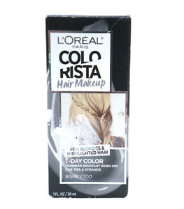 Loreal Colorista One Day Hair Makeup Temporary Wash Out Party Gray  #700