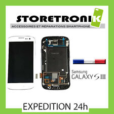 ECRAN LCD VITRE TACTILE CHASSIS POUR SAMSUNG GALAXY S3 I9300 BLANC