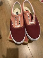 VANS OFF THE WALL BURGUNDY /PINK TRAINERS SIZE UK 10 US 11 /EU 44.5