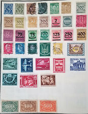 GERMANY 1922-44 Set 38 Used / Mint hinged Post, Airmail, Official Stamps CV>$17