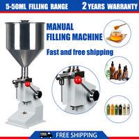 A03 5-50ml Manual liquid Paste Cream Oil Bottle Filling Machine 0.17-1.7oz Fille