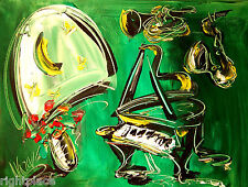 JAZZ  band Modern  Original Abstract Painting  SIGNED PALETTE KNIFE 9erge
