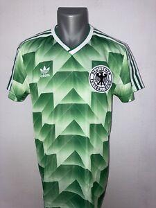 DFB Deutschland ADIDAS Trikot Retro grün Gr. M WM 1990 90 Rarität **TOP**
