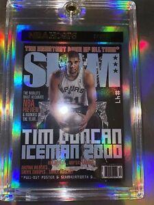 TIM DUNCAN 2020-21 NBA HOOPS SLAM MAGAZINE GOLD FOIL HOLO CARD #8
