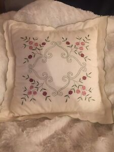 Throw Pillow, Holiday, White Green Red, Decor