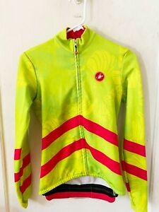 Castelli Long Sleeve Thermal Small NEON YELLOW/GREEN