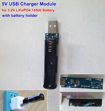 5V USB Charger Module Charging Board + Cell Holder 1S 3.2V 14500 LiFePO4 Battery