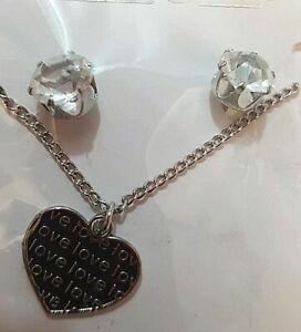 Collana e Orecchini Zirconi Cuore Love Argentati - Fashion Jewelry San Valentino