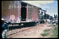 DUPLICATE SLIDE - Nacionales de Mexico NdeM 5652 ALCO RS-1 Derailment Scene