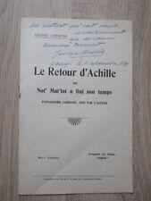 Brochure GEORGE CHEPFER LE RETOUR D'ACHILLE 1930 avec autographe de l'auteur