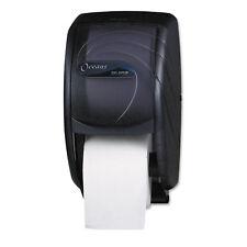 San Jamar Duett Toilet Tissue Dispenser Oceans 7 1/2 x 7 x 12 3/4 Black Pearl
